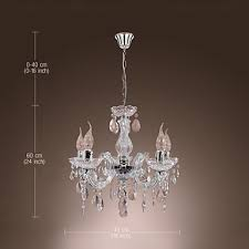 New Chandelier New Upligh Chrome Ceiling L 5 Candle Light Acrylic Fixture