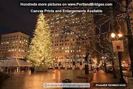 Portland Christmas Lights Courthouse Square Christmas Tree Portland Oregon