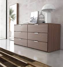 White Gloss Bedroom Furniture Nice Plywood 6 Drawer Modern Dresser With Chrome Pull Handle
