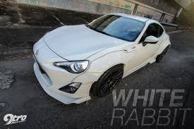 subaru brz rocket bunny white toyota 86 white rabbit 9tro
