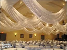 ceiling draping wdrapings custom wedding chiffon ceiling draping leesburg florida