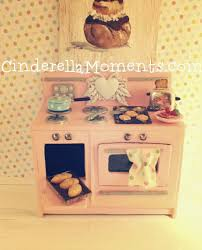 cinderella moments vintage style dollhouse miniature stove oven