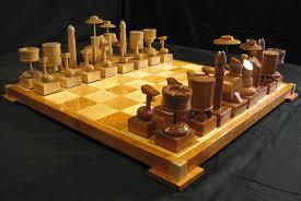chess set custom cherry drum chess set handcarved on etsy