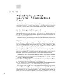 chapter 3 improving the customer experience a research based