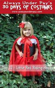 little red riding hood halloween costume toddler day 12 u2013 little red riding hood diy halloween costume tutorial