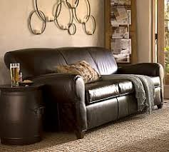 leather sofa leather sofas pottery barn