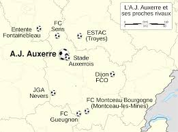 Dijon France Map by File Aj Auxerre Et Ses Clubs Voisins Map Fr Svg Wikimedia Commons