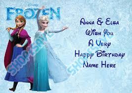 personalised frozen anna u0026 elsa u0026 cast photo u0026 age a5 happy