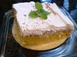 monster mama eggnog tres leches cake