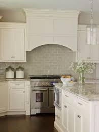 Smoke Glass Subway Tile Grey Backsplash Marble Countertops And - Backsplash white
