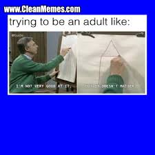 be an adult clean memes