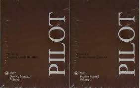 2012 honda pilot manual 2012 honda pilot factory shop service manual 2 volume set original