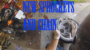 how to change sprockets and chain on fz6 youtube