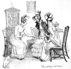 Pride And Vanity Scene From Pride And Prejudice By Jane Austen Drawing Coloring