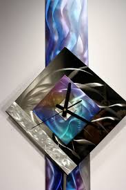 Decorative Metal Wall Clocks Modern Metal Wall Art Pendulum Clock Abstract Sculpture Decor