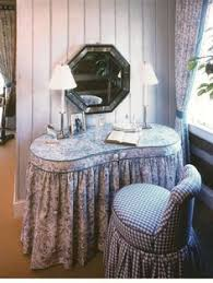 Shabby Chic Vanity Table by What Woman Would Not Love To Have This Skirted Vanity And Matching