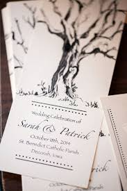 Cute Wedding Programs A Picturesque Fall Country Wedding