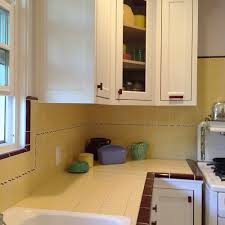 carolyn u0027s gorgeous 1940s kitchen remodel featuring yellow tile