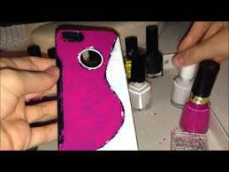 diy phone cover decoration with nail polish youtube