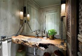 Diy Rustic Bathroom Vanity by Elegant Rustic Bathroom Ideas Vessel Sink For Diy Vanity Double