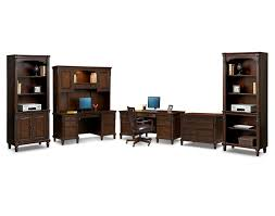 Morgan Computer Desk With Hutch Natural by Home Office Furniture American Signature American Signature
