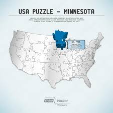 Minnesota State Map Usa Map Puzzle One State One Puzzle Piece Minnesota St Paul