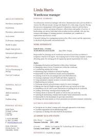 Plant Manager Resume Examples by Manager Resume Examples Warehouse Manager Cv Sample For Warehouse