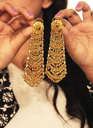 gold earrings for wedding 75 best bridal jewellery images on indian jewelry