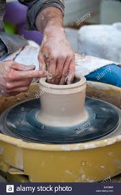 throwing a pot potter throwing a pot stock photo royalty free image 58050028 alamy