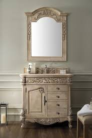 36 inch antique single sink bathroom vanity galala beige marble