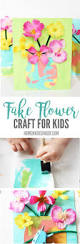 fake flower craft for kids homemade ginger