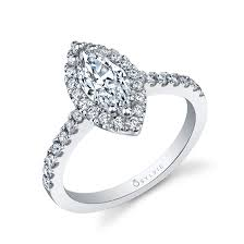 marquise cut diamond ring halo marquise cut engagement ring by sylvie