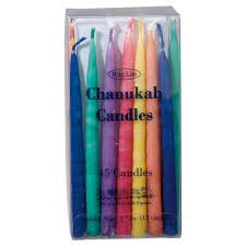 hanukkah candles colors deluxe assorted colored hanukkah candles