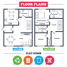 house floor plan symbols recycle bin icons reuse or reduce symbol stock vector
