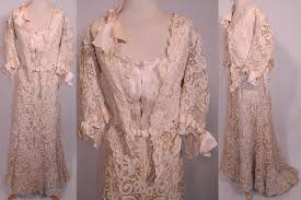 dressy blouses for weddings edwardian antique battenburg crochet lace wedding gown dress
