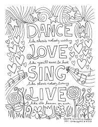Coloring Pages 12 Inspiring Quote Coloring Pages For Adults Free Printables by Coloring Pages