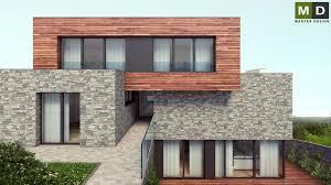 luxury house on a slope with wood paneling praha hloubětín