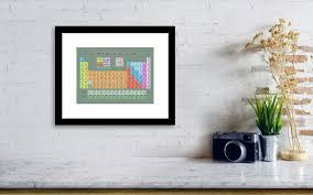 periodic table framed art 46 modern periodic table wall art ideas home