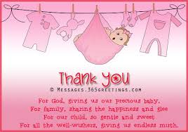 baby shower thank you poems 365greetings