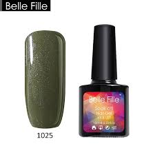 belle fille nail gel polish 10ml wine red ink green color nail