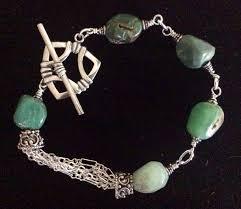 multi chain silver bracelet images Sterling bracelet sterling silver bracelet chryoprase jpg