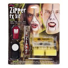 zipper vampire face paint kit fancy dress halloween makeup