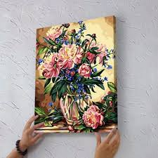 flower vase painting designs