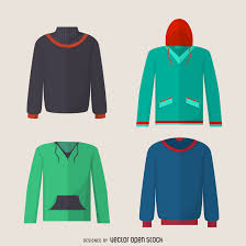 hoodie sweater design set vector download