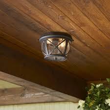Outdoor Ceiling Lights Lowes Portfolio Landscape Lighting Outdoor Flush Mount Ceiling