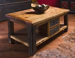 Wood Coffee Table Rustic Rustic Wood Coffee Table With Drawers Reclaimed Wood Coffee Tables