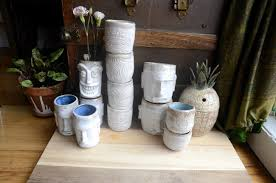 how to make handmade tiki mugs from clay garden cocktails
