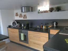 cuisine avec plan de travail en bois cuisine bois avec plan de travail noir cuisine idées de