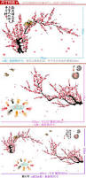 plum chinese living room wall stickers decorative painting den