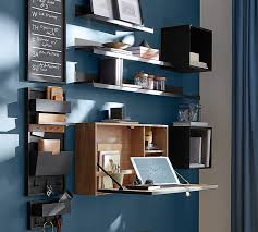 How To Build A Wall Mounted Desk Wyatt Workspace Wall Mounted Desk Pottery Barn